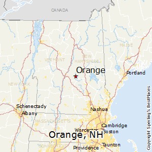 Orange,New Hampshire Map