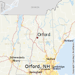 Orford,New Hampshire Map