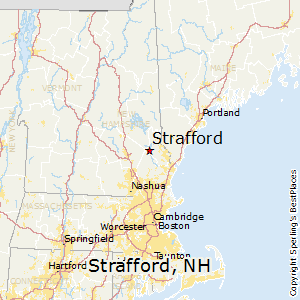 Strafford,New Hampshire Map