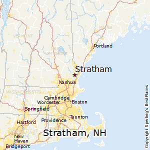 Stratham,New Hampshire Map