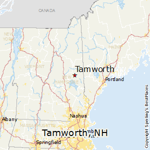 Tamworth,New Hampshire Map