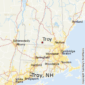 Troy,New Hampshire Map