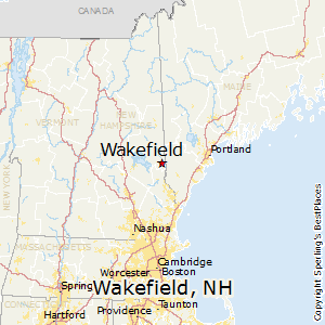 Wakefield,New Hampshire Map