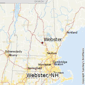 Webster,New Hampshire Map