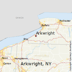Arkwright,New York Map