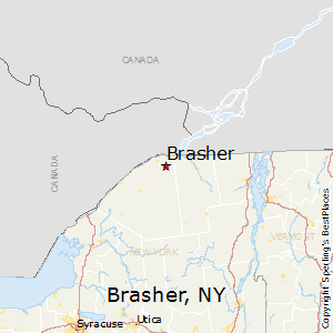 Brasher,New York Map