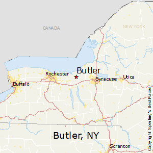 Butler,New York Map