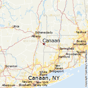 Canaan,New York Map