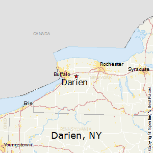 Darien,New York Map