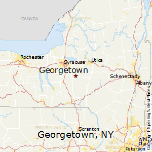 Georgetown,New York Map