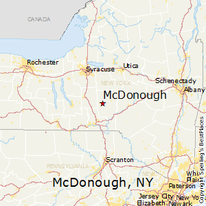 McDonough,New York Map