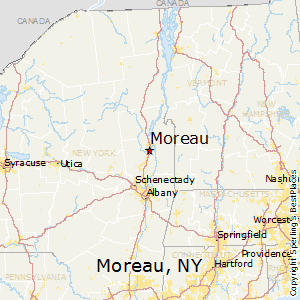 Moreau,New York Map