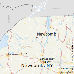 Newcomb,New York Map