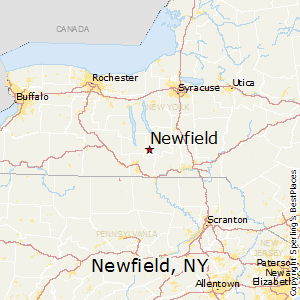 Newfield,New York Map
