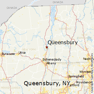 Queensbury,New York Map
