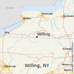 Willing,New York Map