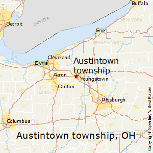 Austintown_township,Ohio Map