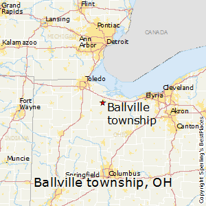 Ballville_township,Ohio Map
