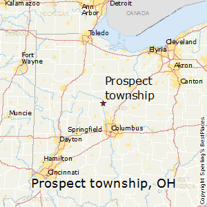 Prospect_township,Ohio Map