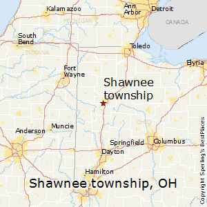 Shawnee_township,Ohio Map