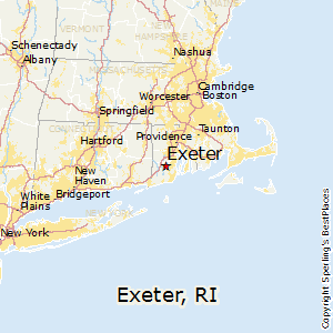 Exeter,Rhode Island Map