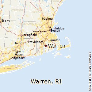 Warren,Rhode Island Map