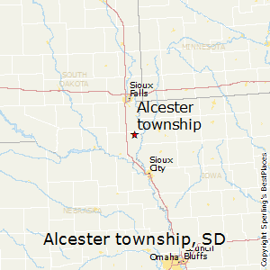Alcester_township,South Dakota Map