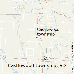 Castlewood_township,South Dakota Map