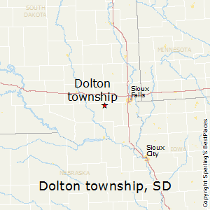 Dolton_township,South Dakota Map