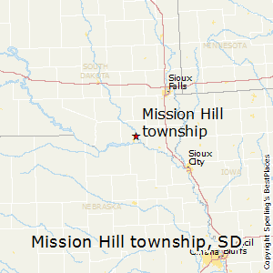 Mission_Hill_township,South Dakota Map