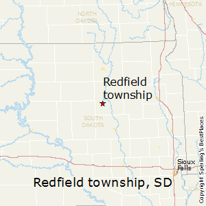 Redfield_township,South Dakota Map