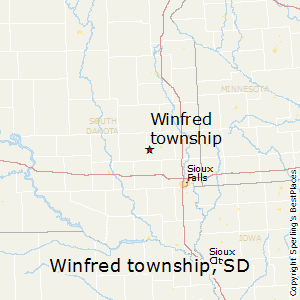 Winfred_township,South Dakota Map