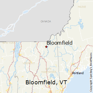 Bloomfield,Vermont Map