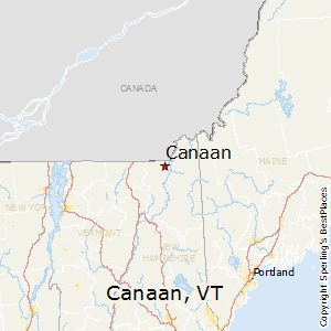 Canaan,Vermont Map