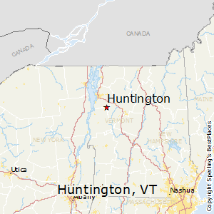 Huntington,Vermont Map
