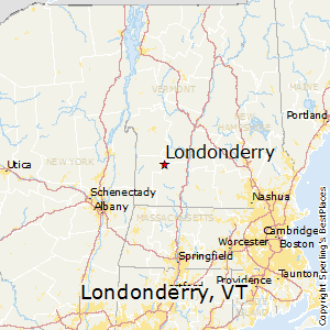 Londonderry,Vermont Map
