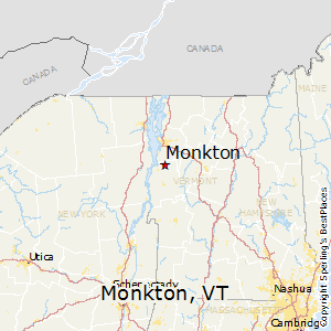Monkton,Vermont Map