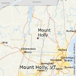 Mount_Holly,Vermont Map