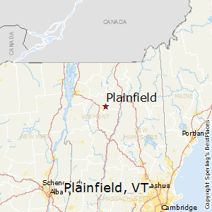 Plainfield,Vermont Map