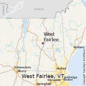 West_Fairlee,Vermont Map