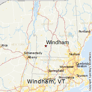 Windham,Vermont Map
