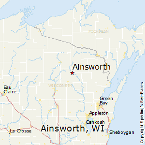 Ainsworth,Wisconsin Map