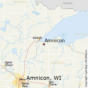 Amnicon,Wisconsin Map