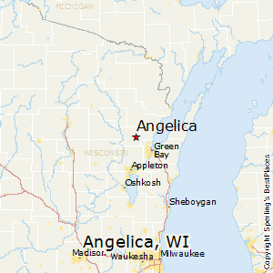 Angelica,Wisconsin Map