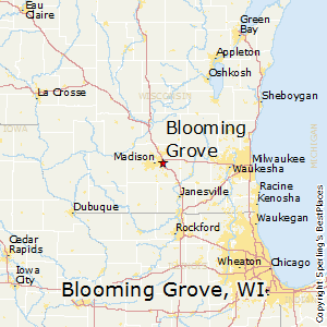 Blooming_Grove,Wisconsin Map