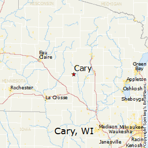 Cary,Wisconsin Map