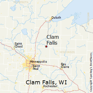 Clam_Falls,Wisconsin Map