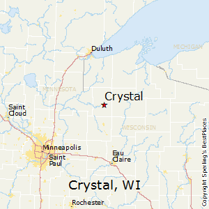 Crystal,Wisconsin Map