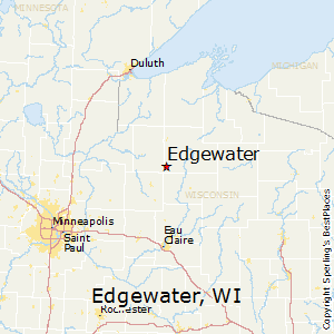 Edgewater,Wisconsin Map