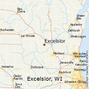 Excelsior,Wisconsin Map